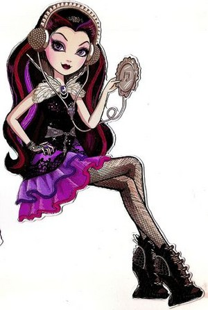 Raven reyna bista sa tagiliran Art