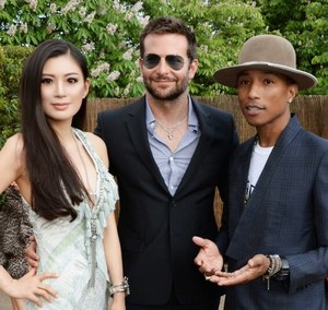 Rebecca Wang, Bradley Cooper and Pharrell Williams attend the 2014 Serpentine Summer Party - London