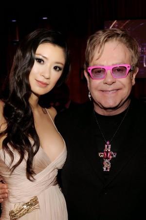 Rebecca Wang and Elton John