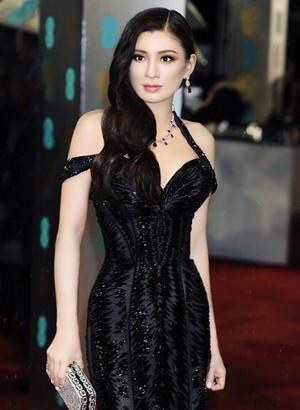 Rebecca Wang supports BAFTA awards in London 2013