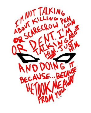 Red capucha, campana Quote | batman Under The Red capucha, campana