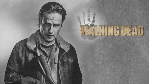 Os Mortos-Vivos wallpaper probably containing a sign and animê called Rick Grimes