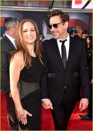 Robert Downey, Jr. and  Wife Lead Team Iron Man at 'Civil War' Premiere