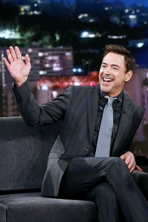 Robert Downey Jr. at Jimmy Kimmel Live, April 13, 2016.