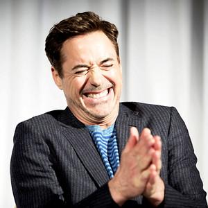 Robert Downey Jr at the Captain America: Civil War Press Conference, April 10, 2016