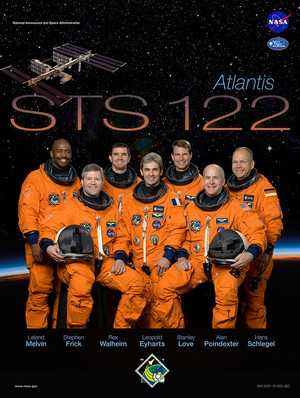 STS 122 Mission Poster
