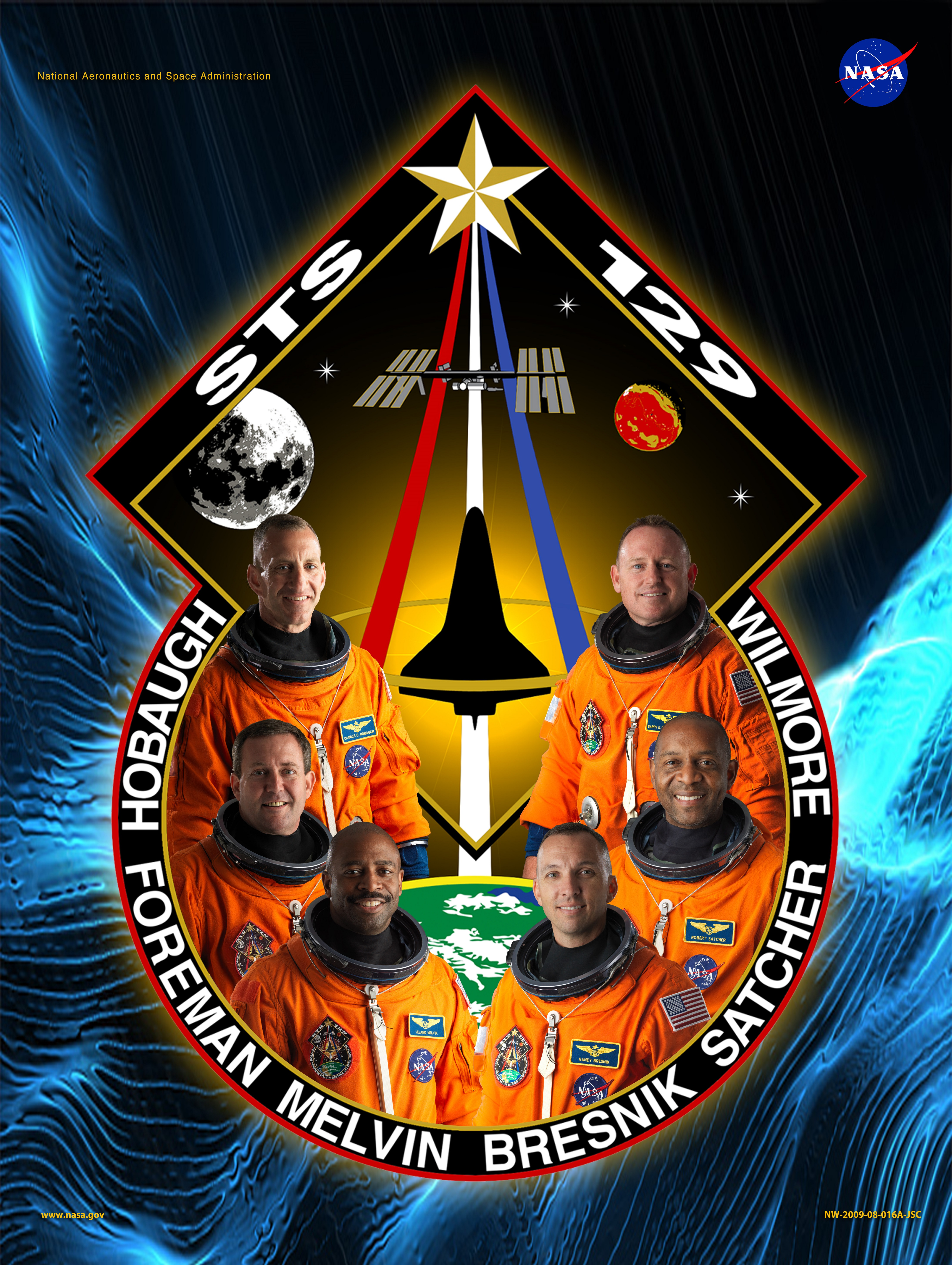 NASA Space Shuttle Program images STS 129 Mission Poster HD wallpaper and background photos