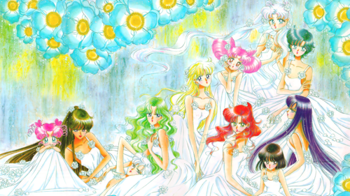 Sailor Moon Sailor Stars karatasi la kupamba ukuta entitled Sailor Stars - Senshi