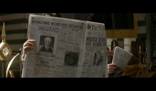 Fantastic Beasts and Where to Find Them wallpaper with a newspaper titled Screencaps - Fantastic Beasts and Where to FindThem Teaser Trailer
