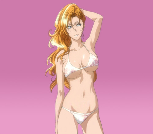 anime bleach wallpaper possibly with a bikini called Sexy Rangiku.