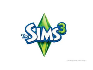 Sims 3 Logo kertas dinding