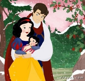 Snow white, Prince, and their baby
