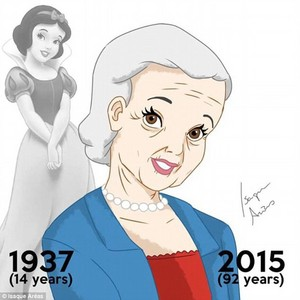 Snow white then and now (at age 92)