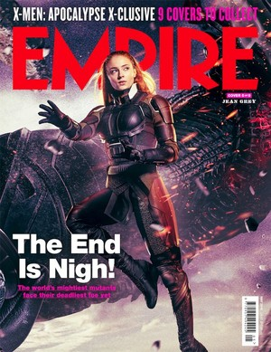 Sophie Turner as Jean Grey in Empire Cober