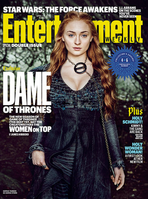 Sophie Turner as Sansa Stark in Entertainment Weekly Cover