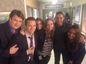 Stanathan and Castle's cast-BTS season 8
