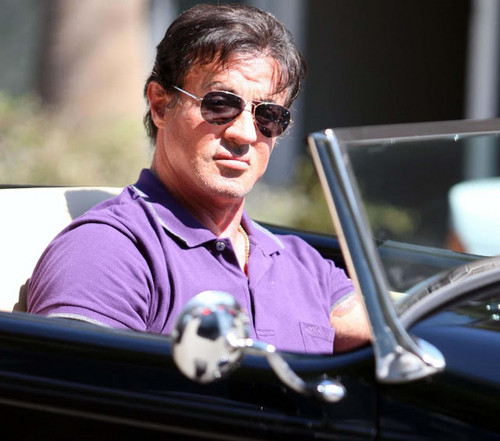 Sylvester Stallone wallpaper probably with sunglasses and an automobile called Sylvester Stallone
