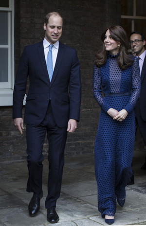 The Duke and Duchess of Cambridge Attend a Reception at Kensington Palace