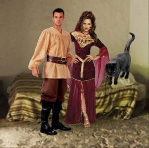 The Hot Elegant Enchantress is in her cama with an Cute Young Peasant Boy