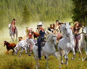 The Lone Rider and other Sexy Cowgirls begin Rounding Up Beautiful Wild Mustangs
