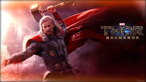 Thor: Ragnarok Hintergrund possibly with a sign and a konzert entitled Thor: Ragnarök