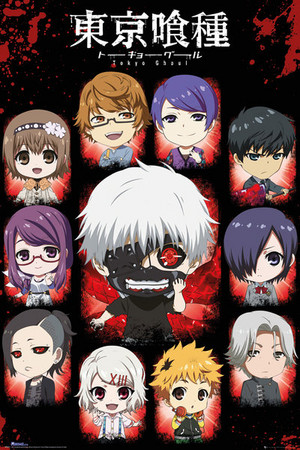 Tokyo Ghoul Чиби Poster