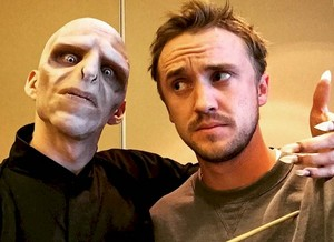 Tom Felton with Voldy