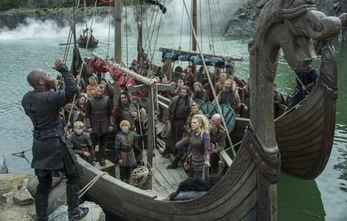 "vikingos (serie de televisión) wallpaper titled Vikings ""Portage"" (4x08) promotional picture"