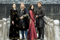Vikings Season 4 reyna Kwenthrith, King Ecbert, Judith and Aethelwulf Official Picture