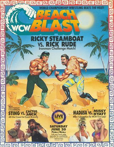 World Championship Wrestling Hintergrund with Anime entitled WCW strand Blast 1992