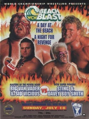World Championship Wrestling वॉलपेपर containing ऐनीमे entitled WCW समुद्र तट Blast 1993