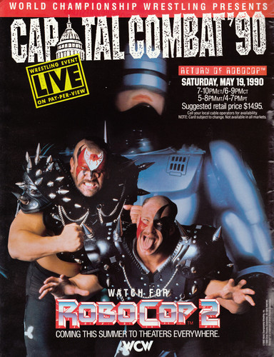 World Championship Wrestling 바탕화면 containing 아니메 called WCW Capital Combat 1990