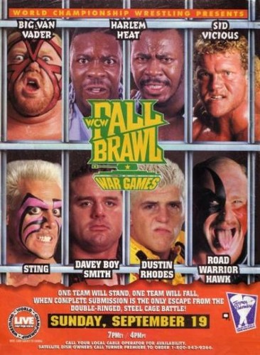 World Championship Wrestling 壁纸 containing 日本动漫 titled WCW Fall Brawl 1993