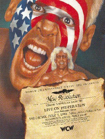 World Championship Wrestling Hintergrund titled WCW Great American Bash 1990