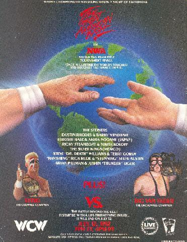 World Championship Wrestling Hintergrund entitled WCW Great American Bash 1992