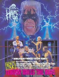 World Championship Wrestling Hintergrund containing Anime called WCW Halloween Havoc 1990