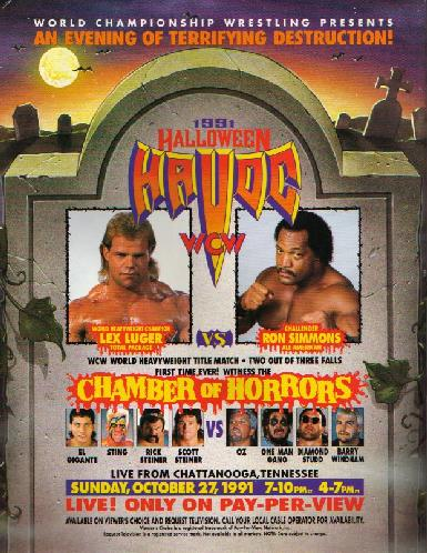 World Championship Wrestling 壁紙 containing アニメ titled WCW ハロウィン Havoc 1991