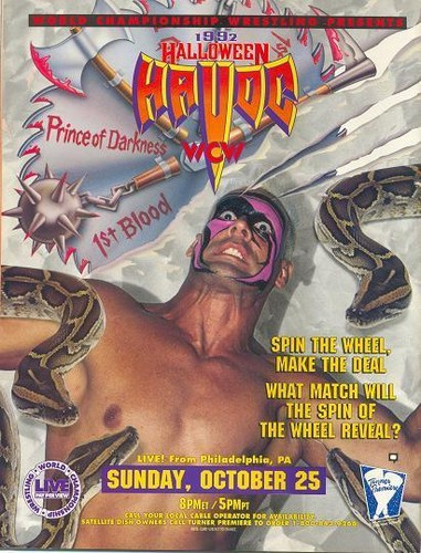 World Championship Wrestling Hintergrund containing Anime entitled WCW Halloween Havoc 1992