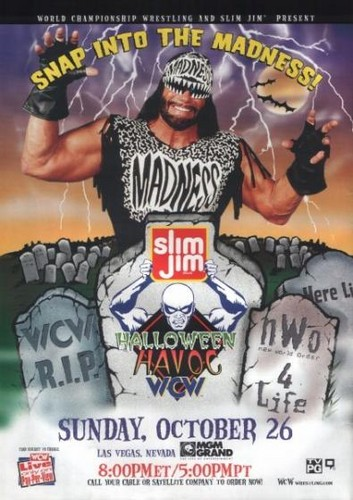 World Championship Wrestling Hintergrund containing Anime titled WCW Halloween Havoc 1997