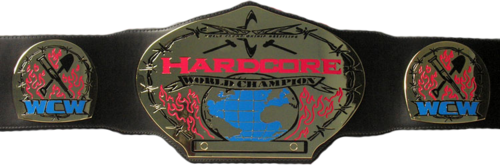 World Championship Wrestling Hintergrund entitled WCW Hardcore Championship gürtel Version 1