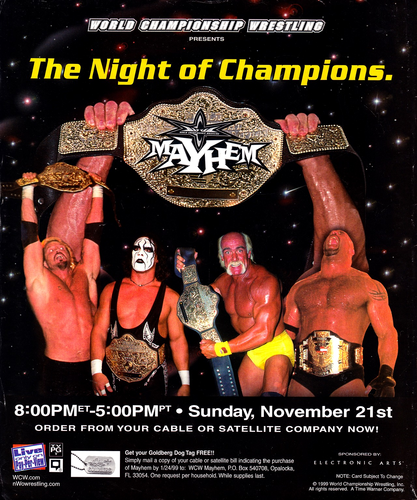 World Championship Wrestling वॉलपेपर containing ऐनीमे titled WCW Mayhem 1999