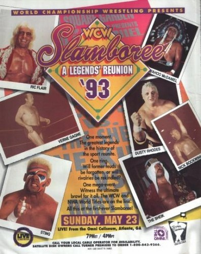 World Championship Wrestling Hintergrund with Anime called WCW Slamboree 1993