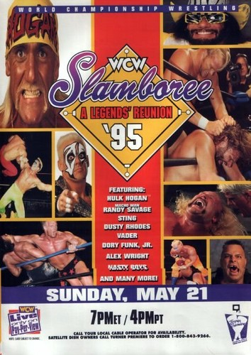 World Championship Wrestling Hintergrund possibly with Anime called WCW Slamboree 1995
