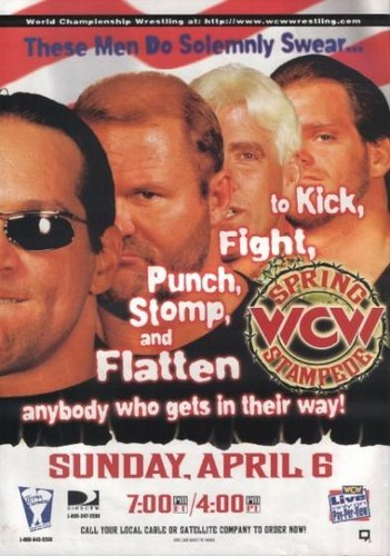 World Championship Wrestling Hintergrund containing Anime called WCW Spring Stampede 1997