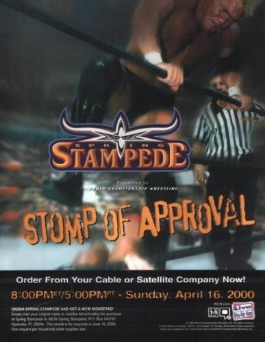 World Championship Wrestling Hintergrund containing Anime entitled WCW Spring Stampede 2000