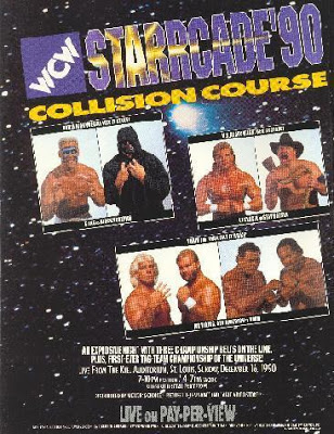 World Championship Wrestling Hintergrund with Anime titled WCW Starrcade 1990