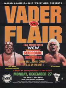 World Championship Wrestling Hintergrund with Anime called WCW Starrcade 1993