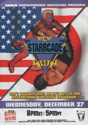 World Championship Wrestling Hintergrund containing Anime entitled WCW Starrcade 1995