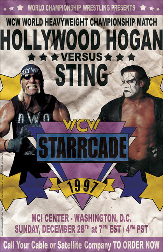 World Championship Wrestling Hintergrund with Anime called WCW Starrcade 1997