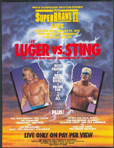 World Championship Wrestling Hintergrund probably with a video kassette, videokassette and Anime titled WCW Superbrawl 1992